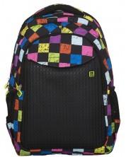 Ghiozdan scolar ergonomic Pixie Crew PXB-06 – Careu colorat cu panou negru -1