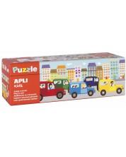 Puzzle educativ APLI cu 30 de piese - Calcul cu vehicule -1