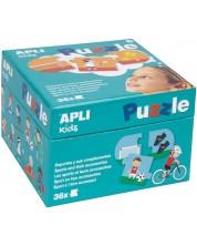 Puzzle educativ APLI cu 36 de piese - Sportul si accesoriile lui