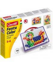 Mozaic de 100 piese Quercetti - Fantacolor Portable Small -1