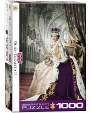 Puzzle Eurographics de 1000 piese - Regina Elisabeth II