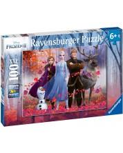 Puzzle Ravensburger de 100 XXL piese -  Frozen 2, Magia padurii