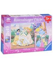 Puzzle-uri Ravensburger 3 de 49 piese - Distractie cu printesele Disney