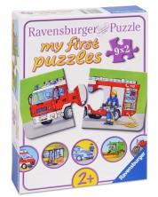 Puzzle Ravensburger din 9 x 2 piese - Masini -1