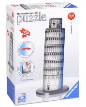 Puzzle 3D Ravensburger de 216 piese - Turnul din Pisa
