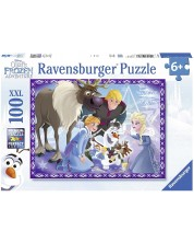 Puzzle Ravensburger de 100 XXL piese - Aventurile lui Olaf