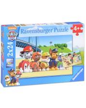 Puzzle Ravensburger 2 x 24 piese - Catelusii eroi, Paw Patrol