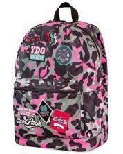 Ghiozdan scolar Cool Pack Cross - Camo Pink Badges