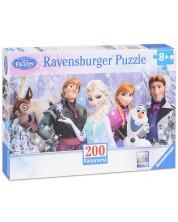 Puzzle panoramic  Ravensburger de 200 piese  - Regatul de gheata