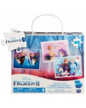 Puzzle in relief Spin Master Cardinal - Frozen II, 3 x 48 piese