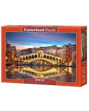 Puzzle Castorland de 1000 piese - Podul Rialto noaptea