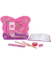 Set Thinkle Stars - Geanta fluture cu jurnal secret, roz -1