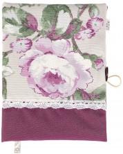 Coperta carte: Bujor (coperta textila cu nasture) -1