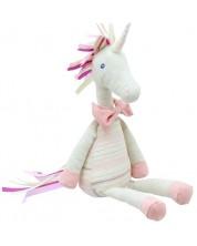 Jucarie de plus The Puppet Company Wilberry Linen - Unicorn roz, din in, 40 cm