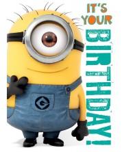 Felicitare muzicala Danilo - Despicable Me: Minion Birthday -1