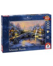Puzzle Schmidt de 1000 piese - Spiritul Craciunului, Tomas Kincaid