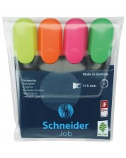 Set textmarkere 4 culori Schneider Job -1