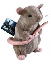 Jucarie de plus Noble Collection Harry Potter - Scabbers, 23 cm