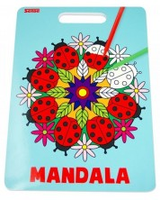 Carte de colorat Sense - Mandala -1