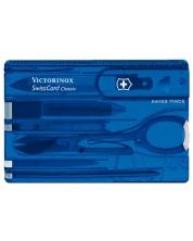 Cutit-card de buzunar elvetian Victorinox - SwissCard, 10 functii, albastru -1