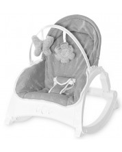 Sezlong pentru bebelusi cu tavita - Lorelli - Alex, Cool Grey Stars -1