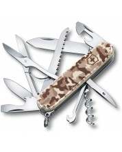 Cutit de buzunar elvetian Victorinox – Huntsman, 15 functii, camuflaj maro -1