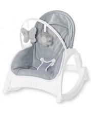 Sezlong pentru bebelusi cu tavita - Lorelli - Alex, Silver Blue Stars -1