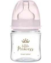Biberon anticolici Canpol Easy Start - Royal Baby, roz, 120 ml -1