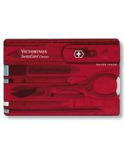 Cutit-card de buzunar elvetian Victorinox - SwissCard, 10 functii, rosu -1