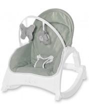 Sezlong pentru bebelusi cu tavita - Lorelli - Alex, Frosty Green Stars -1