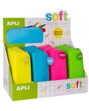 Penar scolar APLI Neon - Siliconat, culori neon, sortiment -1