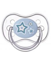 Suzeta simetrica din silicon Canpol Newborn Baby 0-6 luni, albastra -1