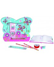Set Thinkle Stars - Geanta fluture cu jurnal secret, albastra -1