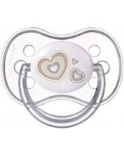 Suzeta simetrica din silicon Canpol Newborn Baby 0-6 luni, alba -1