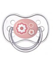Suzeta din silicon Canpol Newborn Baby, simetrica - 6-18 luni, Floare -1
