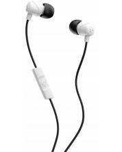Casti cu microfon Skullcandy - Jib, albe/negre