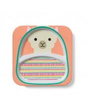 Farfurie cu doua compartimente pentru copii Skip Hop Zoo -  Luna Lama -1