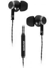 Casti cu microfon Aiwa - ESTM-100BK, negre