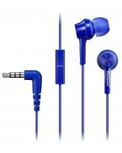 Casti cu microfon Panasonic RP-TCM115E-A - albastre