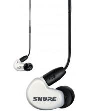 Casti cu microfon Shure - SE215 SP, albe