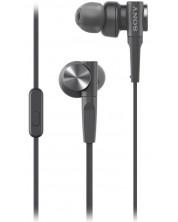 Casti cu microfon Sony - MDR-XB55AP, negre -1