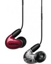 Casti cu microfon Shure - Aonic 5, rosii
