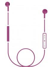 Casti cu microfon Energy Sistem - Earphones 1, roze