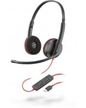 Casti Plantronics - Blackwire C3220 Stereo, USB-C, negre
