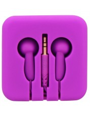 Casti TNB - Pocket, cutie din silicon, mov