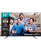 "Televizor smart Hisense - 55E76GQ, 55"", 4K, QLED, negru -1"
