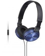 Casti cu microfon Sony MDR-ZX310AP - negre/albastre -1