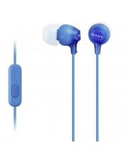 Casti cu microfon Sony MDR-EX15AP - albastre