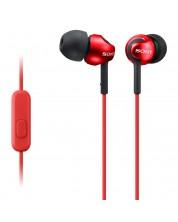 Casti cu microfon Sony MDR-EX110AP - rosii -1