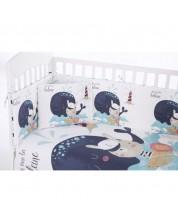 Set 3 piese lenjerie pentru patut bebe Kikka Boo Happy - 70 x 140 cm -1